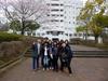 桜と9名の留学生
