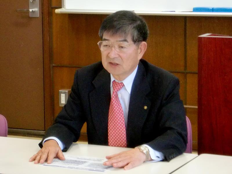 アイム・ジャパンの栁澤共榮会長らが講演しました