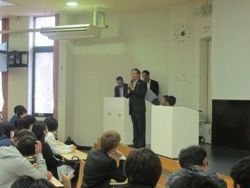 八王子国際キャンパス(講師:警視庁組織犯罪対策部特別講師 長沼氏)