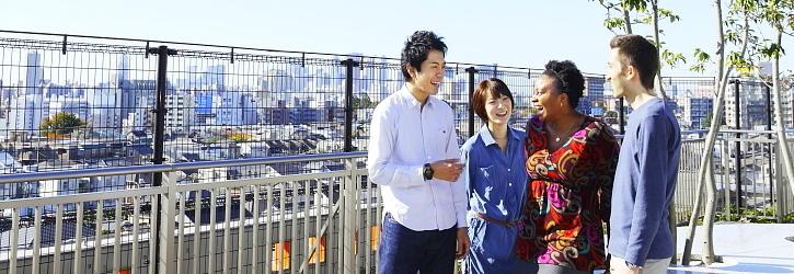 日本人学生と留学生がともに学ぶ環境があります。